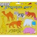 <p>Safari 1 Hayvanlı Şablon Seti</p>