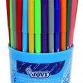 12 Renk x 7 Adet 84'lü Kovada Küçük Boy Keçeli Kalem